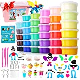 HOLICOLOR 36 Colors Air Dry Clay Kit Magic Modeling Clay for Kids with Accessories, Tools and Tutorials for Kids Arts and Crafts