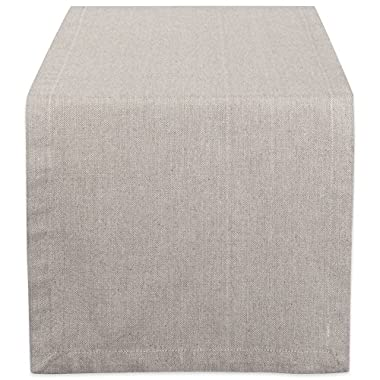DII CAMZ38734 Stone Solid Chambray, Table Runner 14x108, Chambray Stone