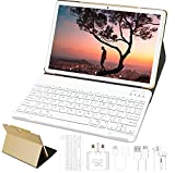10'' Tablet Android 10 4GB RAM + Built-in 64GB SSD ROM, WiFi + Dual SIM LTE GOODTEL Tablets Dual Camera | WiFi | IPS | Bluetooth | MicroSD 4-128 GB | with Bluetooth Keyboard - Rose Gold