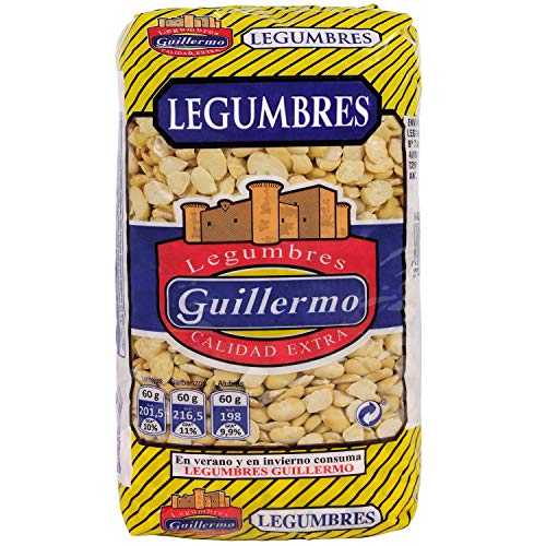 Guillermo Habas Repeladas Legumbres Calidad Extra 1Kg 1000 g
