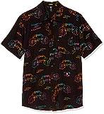 Volcom Alienated S/S Camisa, Hombre, Negro, XS