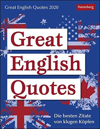 Great English Quotes Sprachkalender. Tischkalender 2020. Tageskalendarium. Blockkalender. Format 12,5 x 16 cm
