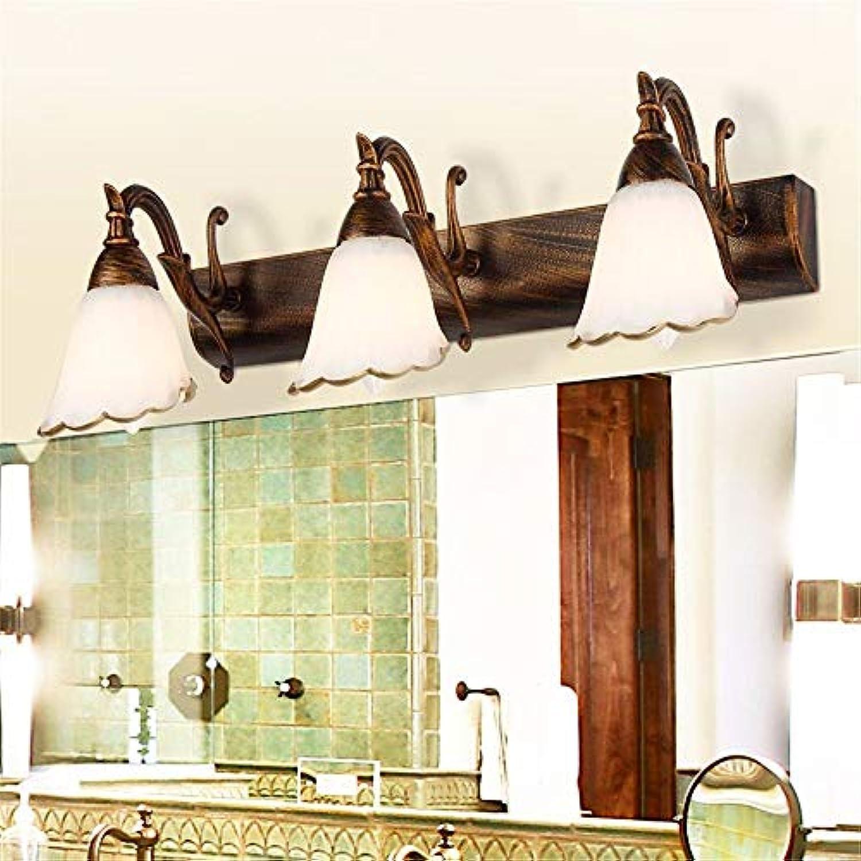 YHEGV Europische Garten Vintage Schmiedeeisen Spiegelleuchte Wandleuchte Nachttischlampe Beleuchtung Korridortüren, wei an beiden Enden