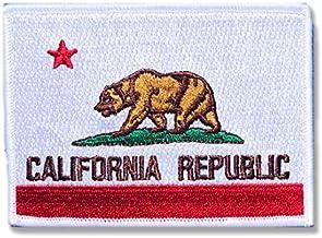 カリフォルニア 州旗 アイロン ワッペン (L 約68mmx98mm)