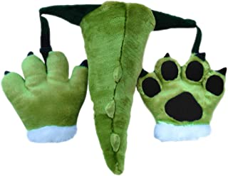 Fluffy Cosplay Costume Set Soft Plush Animals Ears Headband Tail Paws for Adult Kid