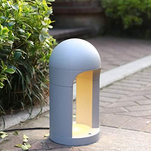Mooie decoratieve lampen moderne LED Outdoor vloerlamp 6W 3000K verwarmen lichtgrijs aluminium en acryl lichtzuil waterdicht IP54 Garden Path Gazon Bolard Lights 20 x 20
