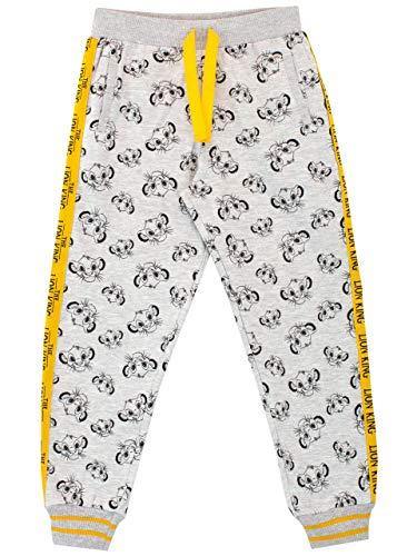 pantaloni tuta 4 anni Disney Pantaloni di Jogging per Ragazzi Lion King Grigio 3-4 Anni