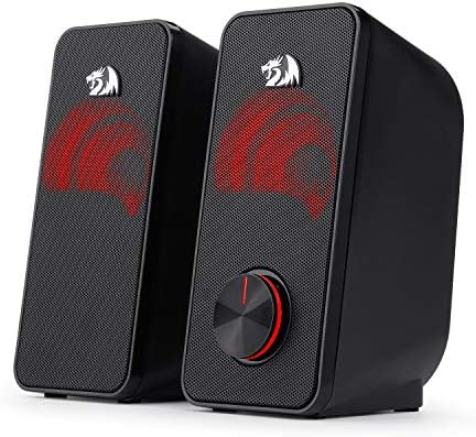 Redragon GS500 Stentor PC Gaming Speaker 2 0 Channel Stereo Desktop Computer Speaker with Red product image