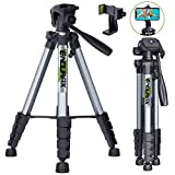 Endurax 66' Video Camera Tripod for Canon Nikon Lightweight Aluminum Travel DSLR Camera Stand with...