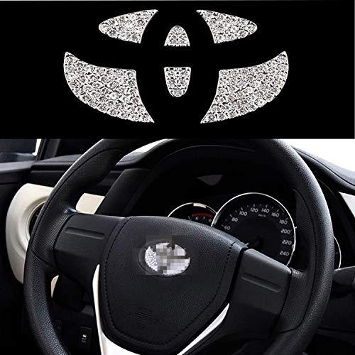 Bling Diamond - Pegatinas de cristal para volante de coche con logotipo de Toyota 2015 – 2018