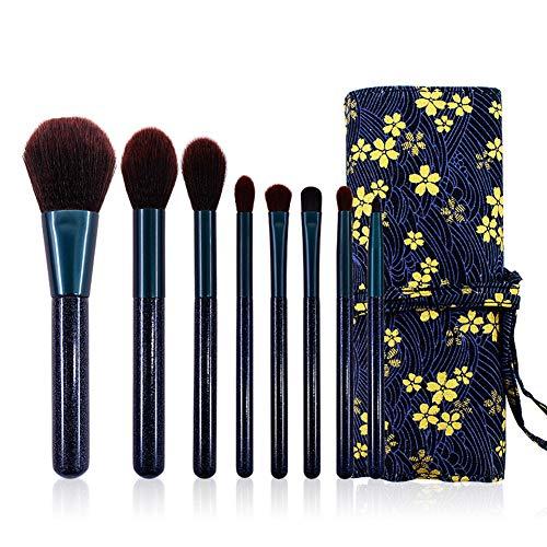 Pinceau de maquillage 8 fibre ombre à paupières mis brosse rétro petit floral set brosse