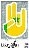 THE SHOCKER HAND - Wandtattoo / Wandaufkleber/ Aufkleber - weißer Umriss mit Fahne / Flagge - Senegal-Senegal 100 cm