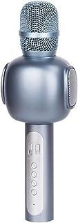 DKee Auricular Inalámbrico Bluetooth Micrófono K Canción Tesoro De Micrófono Inalámbrico Canto Música 25 * 6cm (Color : Si...