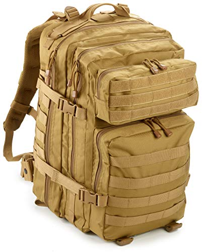 40L Large Military Tactical MOLLE Backpack by EverTac Best Pack For Bug Out Bag, 3 day Assault, Hunting, Hiking, Rucksack (Tan)