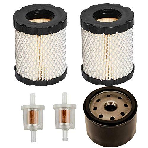 JJDD Ersatz Ölfilter Luftfilter Kraftstofffilter für Briggs & Stratton 492932 492056 492932S 695396 696854 795890 John Deere GY20577 AM125424 Kawasaki 49065-7007