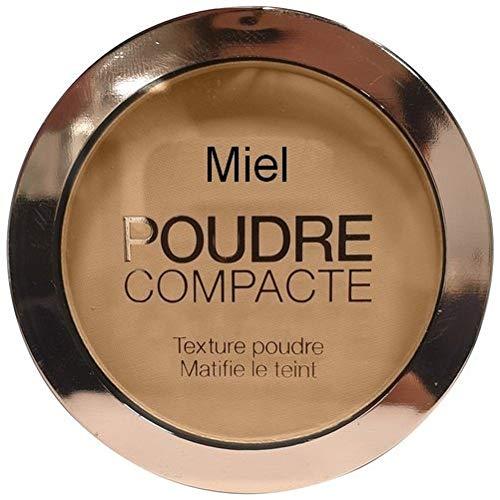 Poudre compacte pour le maquillage, matifiante, couleur miel, 10 gr