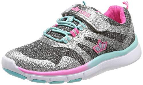 Lico Mädchen Alania VS Sneaker, Grau (Grau/Silber/Pink Grau/Silber/Pink), 33 EU