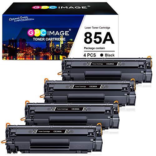 GPC Image CE285A 85A Reemplazo para HP 85A CE285A Cartucho de Toner para HP Laserjet Pro P1102 P1102W P1100 P1109 M1210 M1212NF M1212 M1217NFW M1132 M1136 M1217NFW (4 Negro)