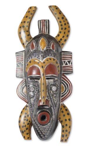NOVICA 194822'Senufo Legado de Madera Africana máscara, Multicolor