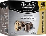 Café Fortaleza Platinium – Cápsulas Compatibles con Nespresso, de Aluminio, Sabor Intenssisimo, Especial Café Espresso, 100% Arábica, Pack 4x40 - Total 160 uds