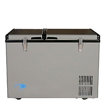 Whynter 62 Quart Dual Zone Portable Fridge AC 110V/ DC 12V True Freezer for Car Home Camping RV-8°F to 50°F One Size Gray