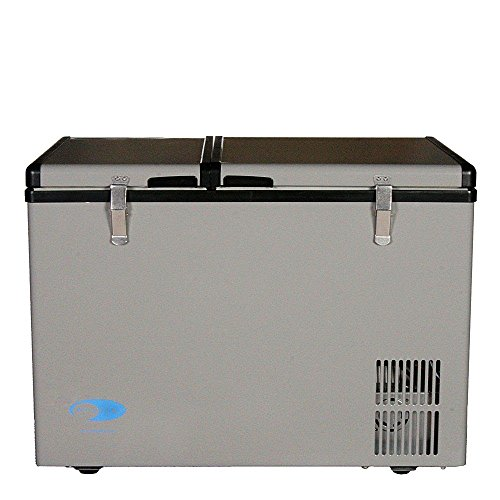 Whynter 62 Quart Dual Zone Portable Fridge, AC 110V/ DC 12V True Freezer for Car, Home, Camping, RV-8°F to 50°F, One Size, Gray