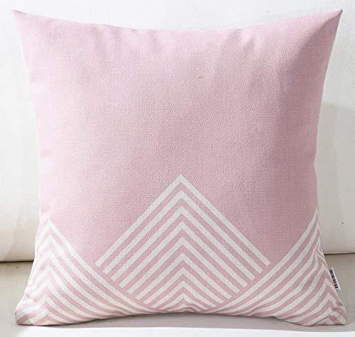 DSHRTY Federa,Fodere per la casa Decorazione Fodera per Cuscino Rosa Minimalista a Forma Geometrica rombo, A11,45x45cm Just Cover