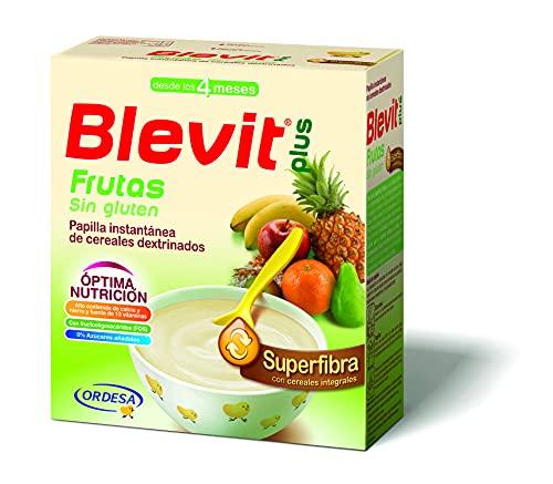 Blevit Plus Superfibra Frutas, Cereales para Bebé. A Partir de Los 4 Meses, 600g