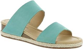 Lucky Brand Women's WYNTOR Wedge Sandal, Bristol Blue, 7