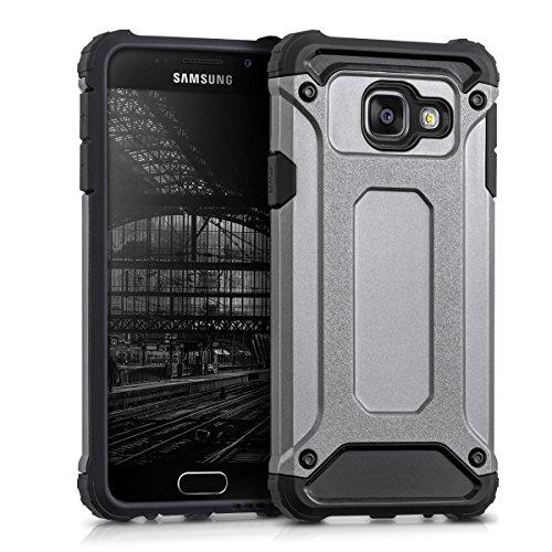 kwmobile Coque Compatible avec Samsung Galaxy A3 (2016) - Housse de Protection Hybride pour Téléphone en Transformers Anthracite-Noir