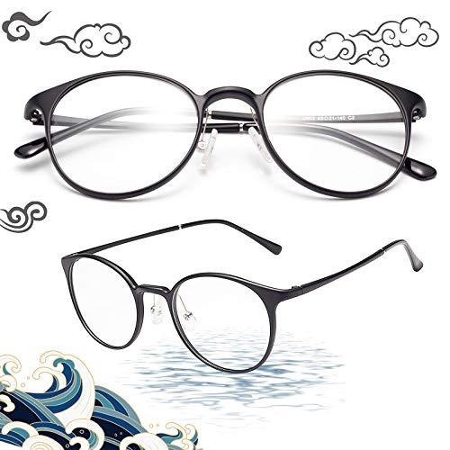 JIMMY ORANGE老眼鏡 ボストン ブルーライトカット 軽い パソコン用 PCメガネ 携帯用 メンズ レディース おしゃれ リーディンググラス ブラック 度数+2.00 LS902