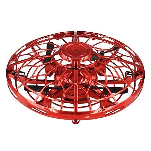 QIMANZI Mini Drohne, Kinder Spielzeug Handgesteuerte Flugdrohne mit 360 ° Drehung, Infrarot-Induktion Handgesteuertes,Wiederaufladbares Flugspielzeug Indoor Outdoor Fliegender Ball für Jungen Mädchen