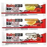 HYDROLYZED Bar 50% [Barrita de 55 g] – Barritas proteicas cero azúcares (Blanco Zero Cero Cruchy, Caja de 24 barras)