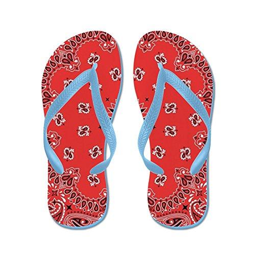 CafePress - Red Bandana - Flip Flops, Funny Thong Sandals, Beach Sandals