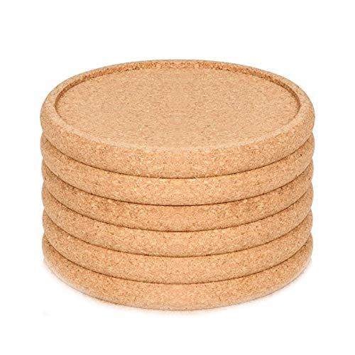 WHK Rundes Kork Untersetzer Set, 6/10 / 20PCS Tischmatte Becher Pad Kaffeetasse Matte Trinken Tee Pad Tischsets