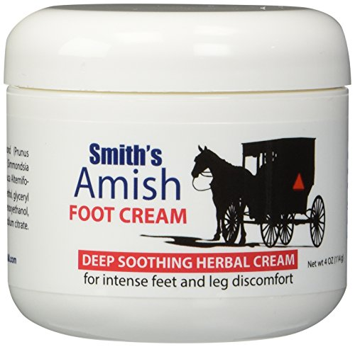 Smith's Amish Foot Cream Deep soothing herbal cream for intense foot and leg discomfort including burning, cramping & restlessness sensations