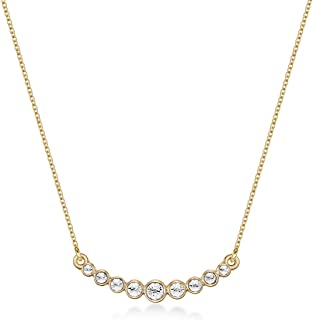 Mestige Jewellery Gold Evangeline Necklace with Swarovski® Crystals, Gifts Women Girls, Bridal Necklace