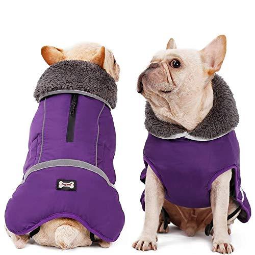 Dora Bridal Dog Coat Supplement, Dog Tutleneck Coats Apparel, Pet Waterproof Windproof Cloth Dogs Dogs Warm Classic Soft Vest Jackets, Puppy Warm Winter Coats for Small Medium Large Dogs