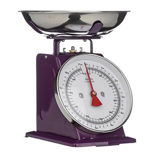 Premier Housewares - Báscula para Cocina con Bol (Acero Inoxidable, 5 kg,...