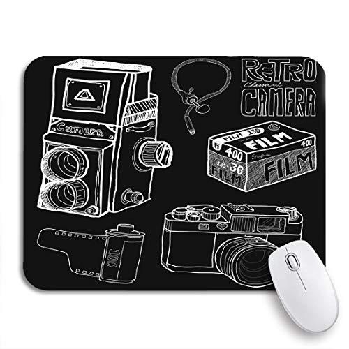 Gaming mouse pad fotografie retro-kamera in skizze zeichnungsfilm slr digital rutschfeste gummi backing mousepad für notebooks computer maus matten