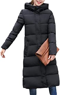 Macondoo Womens Fashion Cotton-Padded Hooded Puffer Quilted Outwear Down Jacket