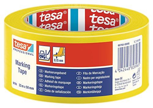 Tesa Bodenmarkierungs- und Warnband, 50mmx33m, Gelb