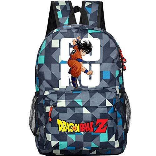 Siawasey Dragon Ball ZAnime Goku Mochila de Cosplay, mochila para ordenador portátil,...