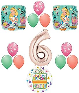 Alice in Wonderland Tea Time 6th Birthday Party Supplies Mad Hatter Balloons Decoration