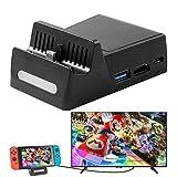 ATUTEN Switch TV Dock Portatile, Dock di Ricarica per Nintendo Switch con Custodia di Ricarica Charging Dock Dissipatore di Calore con 3 Porte USB Incorporate/HDMI/Type C Adattatore