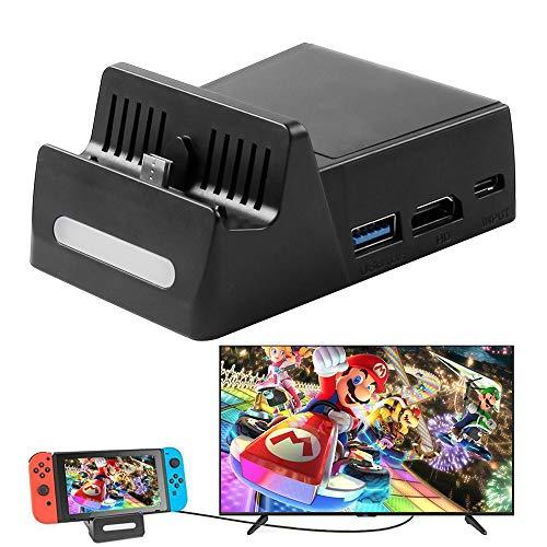 Base de Carga para Nintendo Switch con Interfaz de Salida de Datos de...