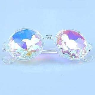 Threete Credible Round Kaleidoscop Glasses Rave Festival Men Women Sunglasses Night Show Eyewear