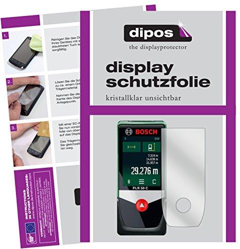 dipos I 3X Schutzfolie klar kompatibel mit Bosch PLR 50 C Folie Displayschutzfolie