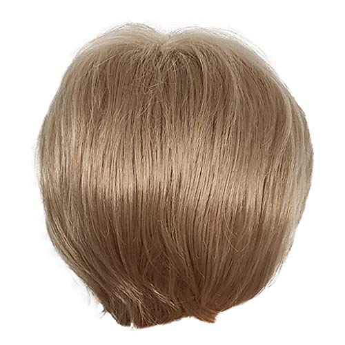 12shage Hair Lace Perruque Synthetique Wigs, Mode Féminine Nouvelle Perruque Courte De Couleur Dégradée Ondulée Perruque Synthétique Bouclée