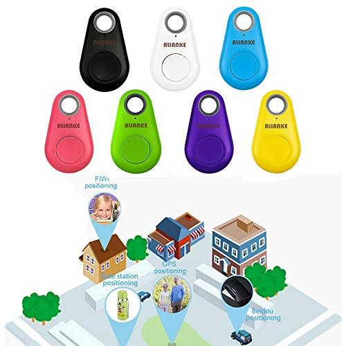 Alianke Set of Seven Colors Smart GPS Tracker, Key Finder, Locator, Wireless Anti-Lost Alarm Sensor Device, Used for Phone, Keychain, Wallet, Luggage, Tracker, Selfie Shutte
